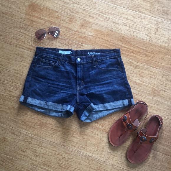 GAP Pants - Dark denim shorts